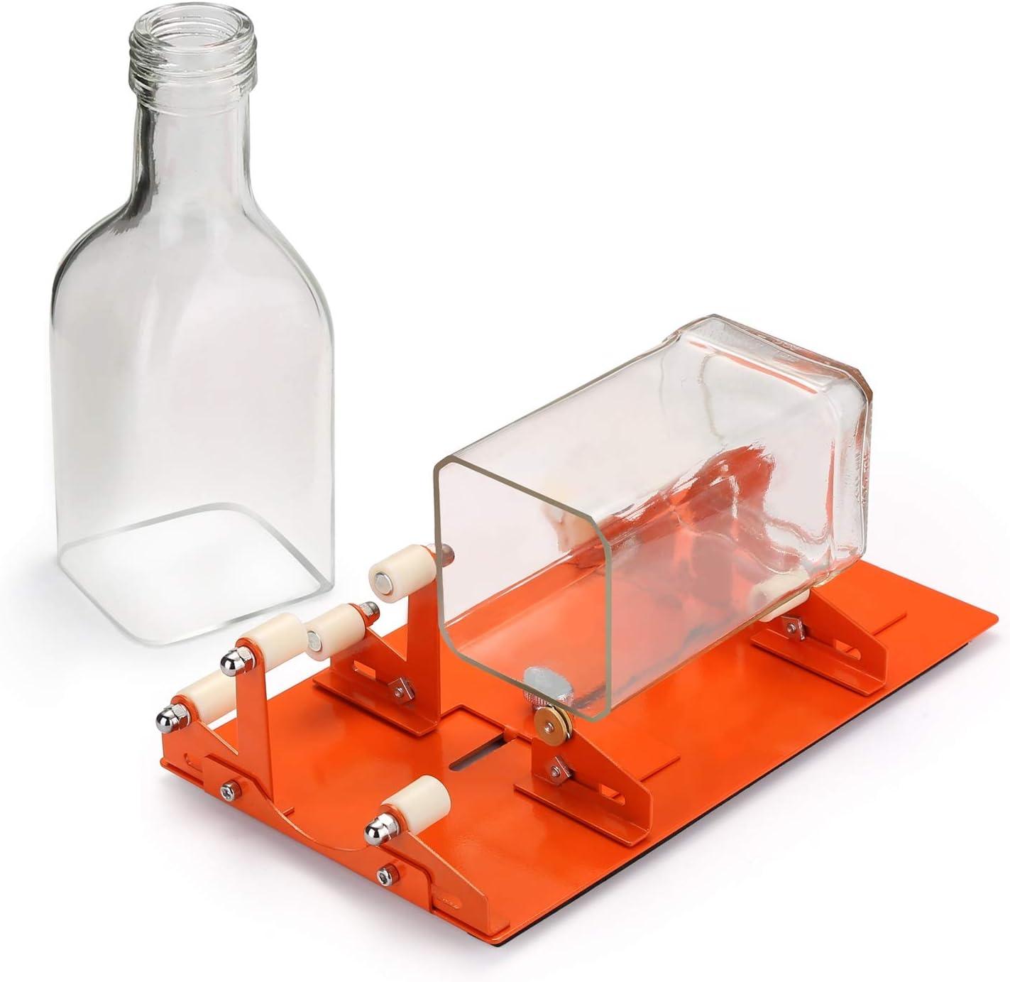 Maquina para cortar botellas de vidrio.