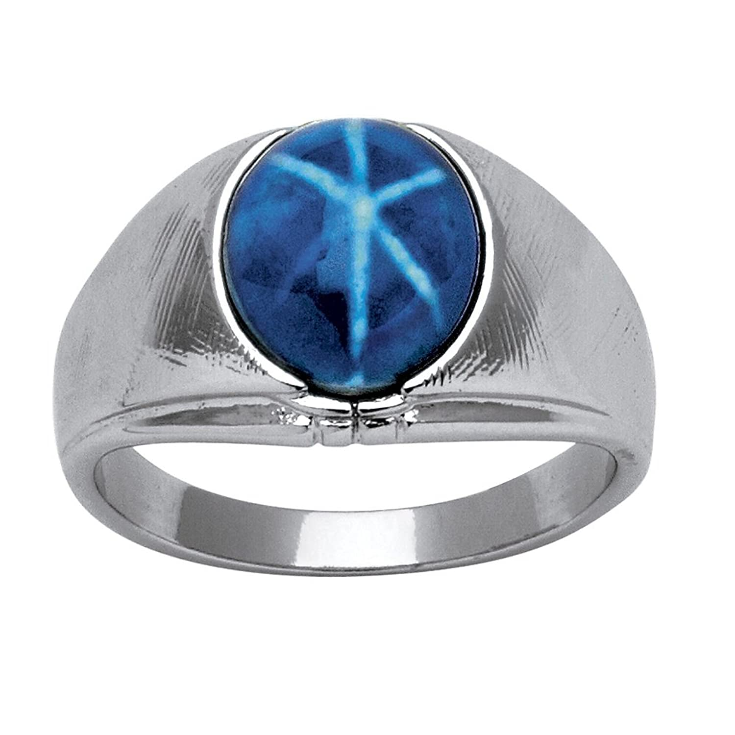 synthetic star ring cocktail ladies size diamond white blue gold products sapphire