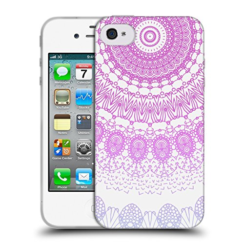 Officiel Monika Strigel Rose Lacet Boho Étui Coque en Gel molle pour Apple iPhone 4 / 4S