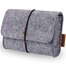 ProCase Felt Storage Case Bag Accessories Organizer for MacBook Laptop Mouse Power Adapter Cables Computer Electronics…