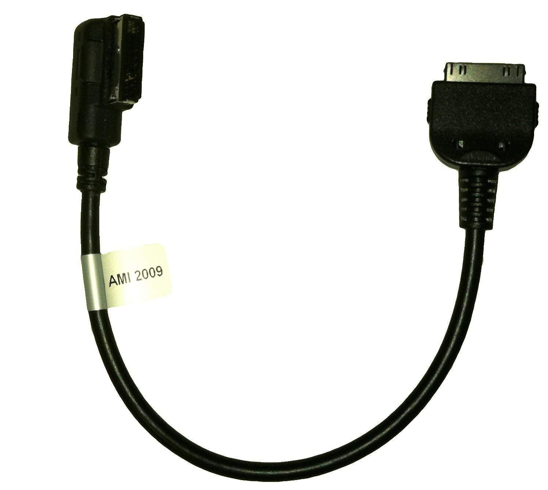 Eidoct AMI MDI MMI C/âble Adaptateur de Musique Compatible pour iPhone 4 4S iPod iPad Audi A3//A4//A5//A6//A8//S4//S6//S8//Q5//Q7//R8//TT et Volkswagen Jetta//GTI//GLI//Passat//CC//Tiguan//Touareg//EOS