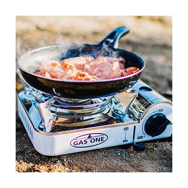 GasOne Camp Stove - Propane & Butane GS-800P Mini Dual Fuel Stainless Portable Propane & Butane Camping Stove Burner… 6
