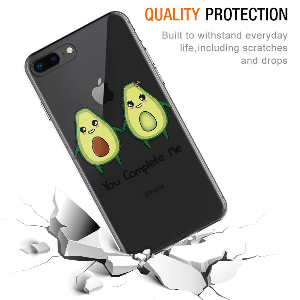 Pnakqil Funda iPhone 8/7 Silicona 3D Transparente con Dibujos