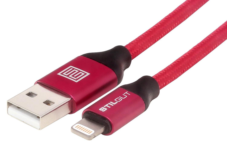 StilGut câble Premium Compatible et adapté au Chargement et à la synchronisation des données de Produits Apple sur USB, 1 m, Noir
