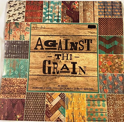 Against the Grain 12x12 Scrapbooking Paper Pad Rustic Wood, Chipped Paint -