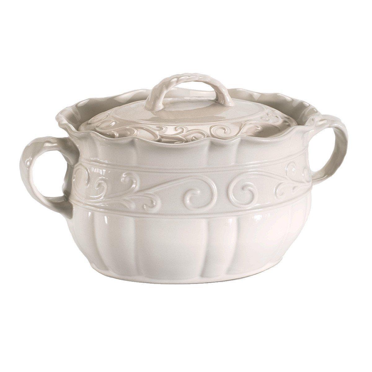 Celebrating Home Veranda Home Bean Pot (Stoneware Casserole Dish) - Oven, Microwave & Dishwasher Safe