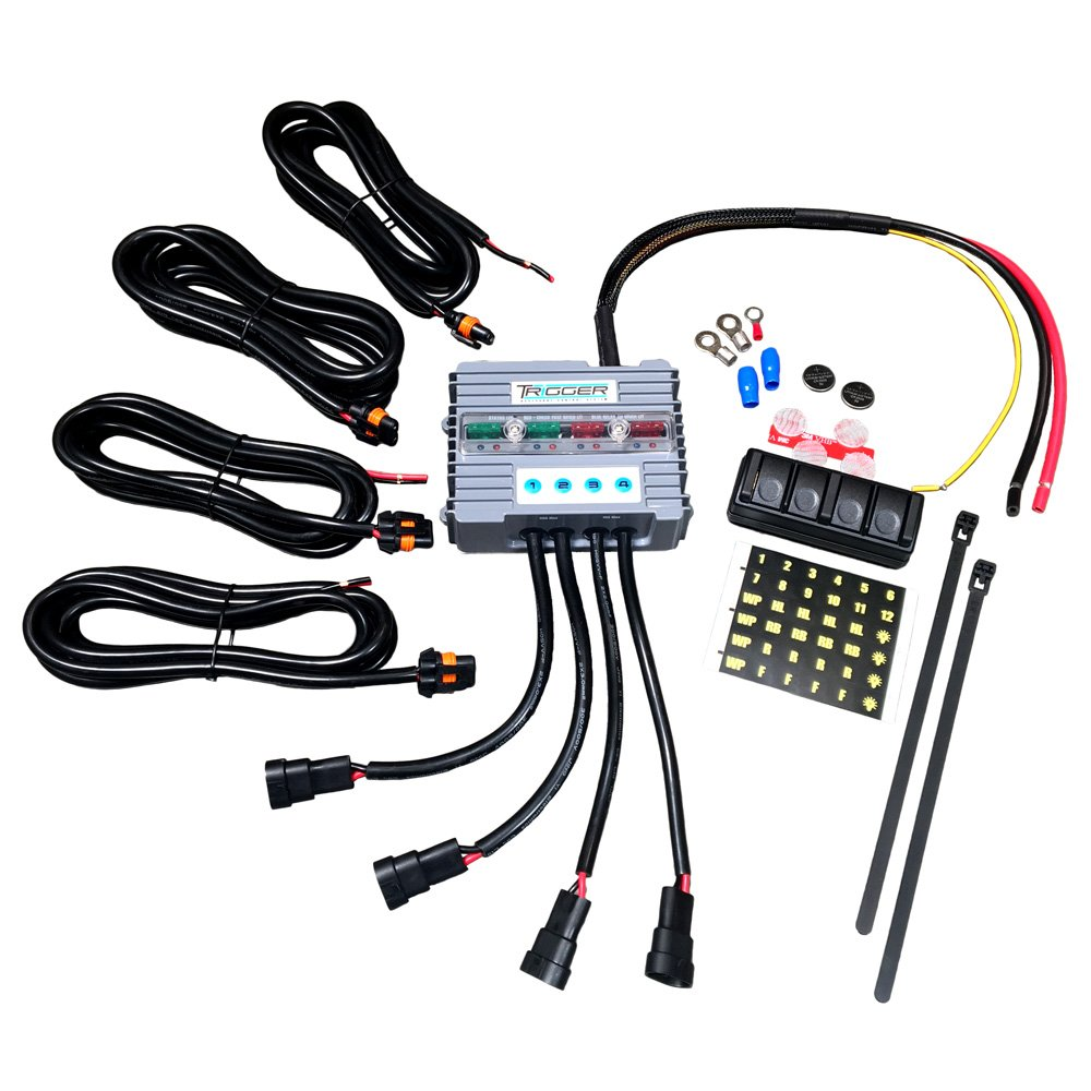 Trigger 2001 Wireless Accessory Controller 4 Switch Tacoma E Locker Wiring Harness Relay System 1 Pack Automotive