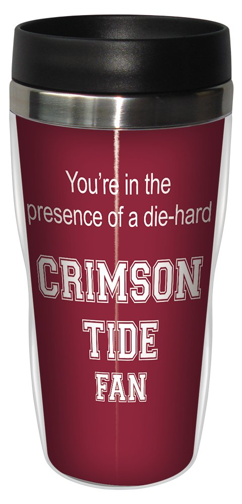 Tree-Free Greetings sg24622 Crimson Tide College Basketball Sip 'N Go Stainless Steel Lined Travel Tumbler, 16 Ounce