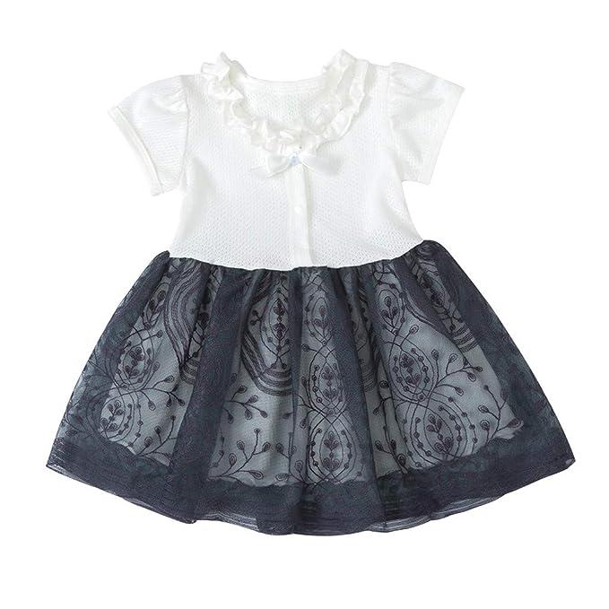 b1646b885 Luckycat Nuevo Reborn Niña Flor Princesa Vestido Bebé Niños Fiesta Boda  Desfile Tul Tutú Vestidos Niña