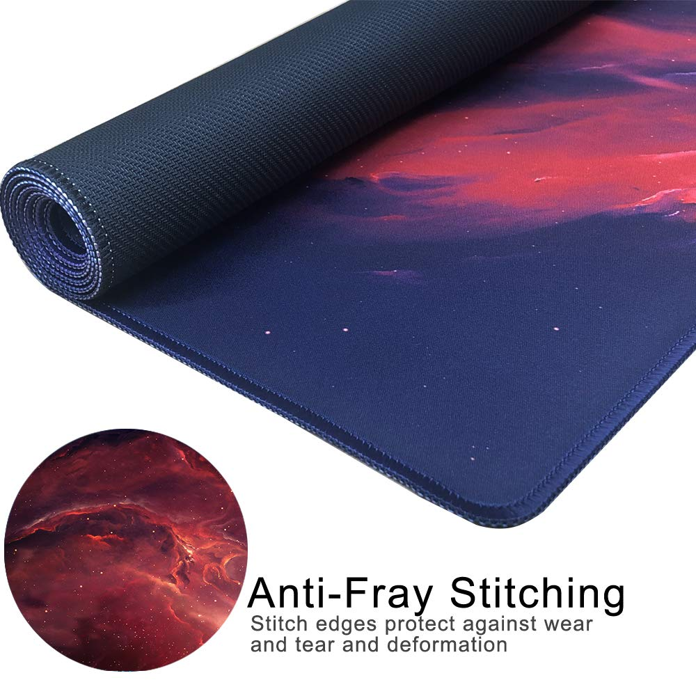 90x40 Forest011 Gaming Mouse Pad Extended Large Desk Mat 35.4x15.7 Inch Non-slip Mouse Mat