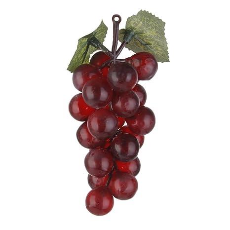 Racimo de Uvas Artificial Fruta de Imitación Plástico Prop Boceto ...