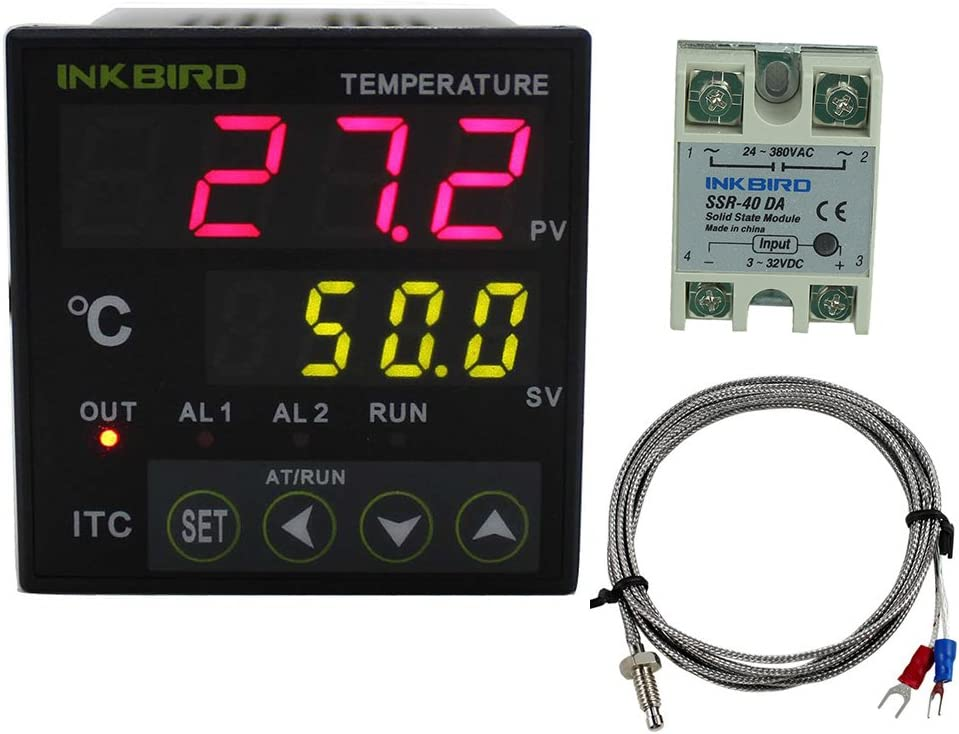 Inkbird PID Temperature Controller with Relay ITC-100VH 40DA SSR K Thermocouple