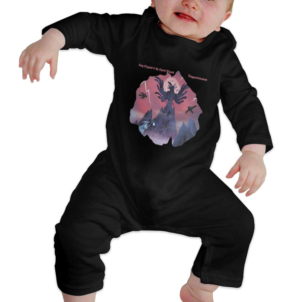 Fional Infant Long Sleeve Romper King-Gizzard-and-Lizard-Wizard-Shirt Newborn Babys 0-24M Organic Cotton Jumpsuit Outfit