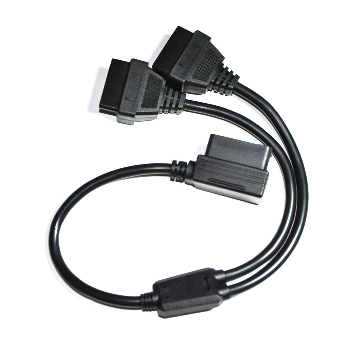 Vgate OBD2 Splitter Extenstion Cable Male to Dual Female Y Cable 16Pin Diagnostic Cable Vgatemall VG036