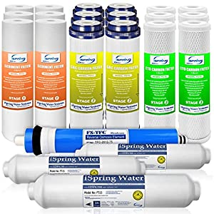 iSpring F22-75 3-Year Filter Replacement Supply For 5-Stage Reverse Osmosis Filtration Systems