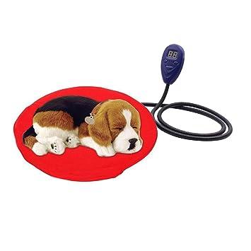 Bello Luna D11.8in Mascotas Esteras de Calefacción Redonda Resistente Al Agua Anti-mordida
