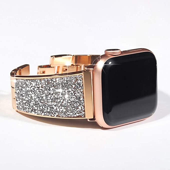 fe03bb01d55 Amazon.com  KADES Stainless Steel iWatch Band Compatible for Apple ...