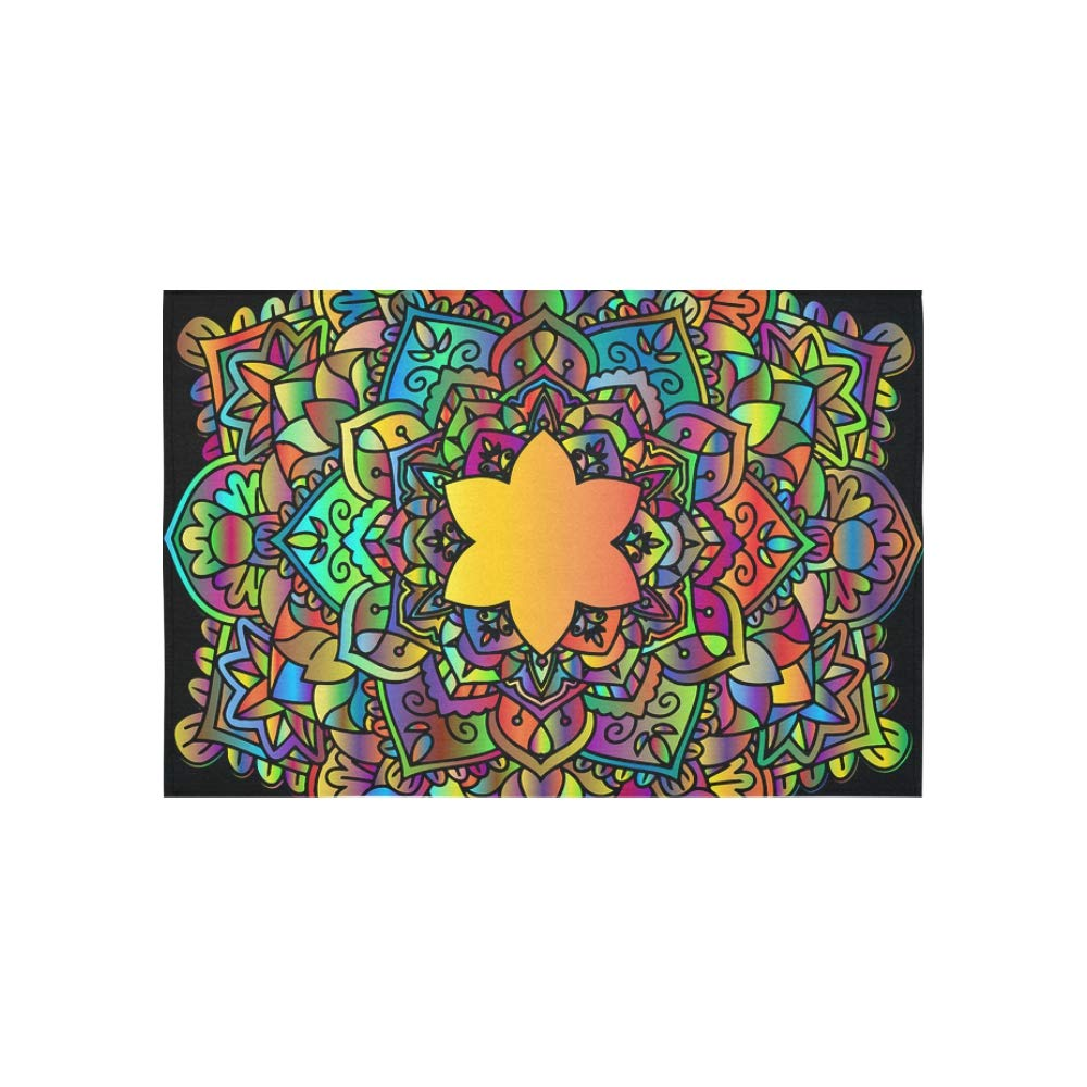 WBSNDB Tapestry Mandala Floral Flower Abstract Chromatic Colorful Tapestries Wall Hanging Flower Psychedelic Tapestry Wall Hanging Indian Dorm Decor for Living Room Bedroom 60 X 40 inch