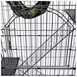 Black-Pet-Cat-Crate-Cage-Playpen-Kennel-Bed-Hammock