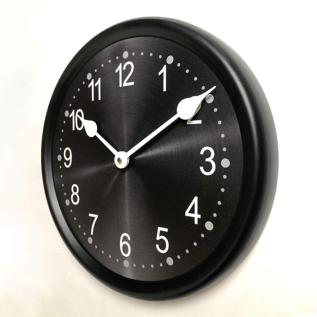 Heavy Metal Black Wall Clock, Available in 8 Sizes, Most Sizes Ship The Next Business Day, Whisper Quiet.