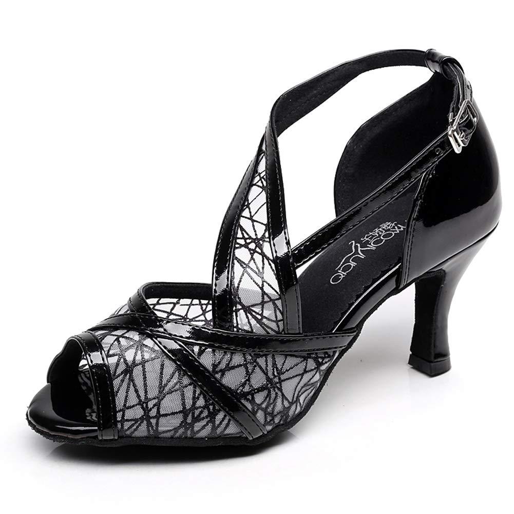 XIAOY Leder PU Kreuz Gurt Peep Toe High Heel Latein Latein Latein Tanzschuhe für Damen 8.5CM B07MV2G3F4 Tanzschuhe Das hochwertigste Material fdfc77