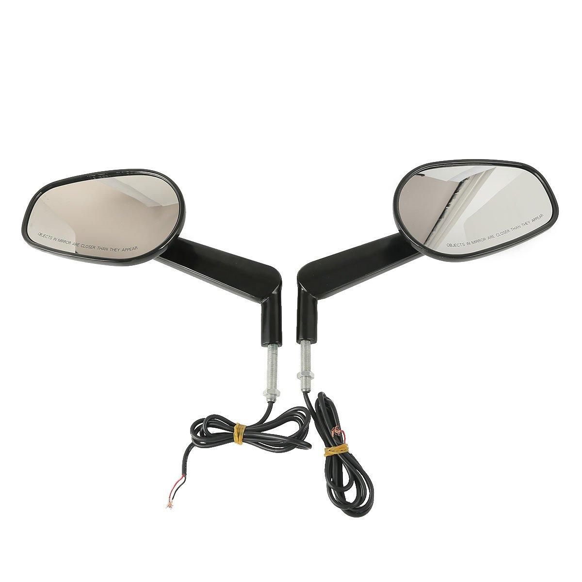 XMT-MOTO Muscle Rear View Mirrors LED Turn Signals For Harley Davidson VROD V-Rod VRSCF