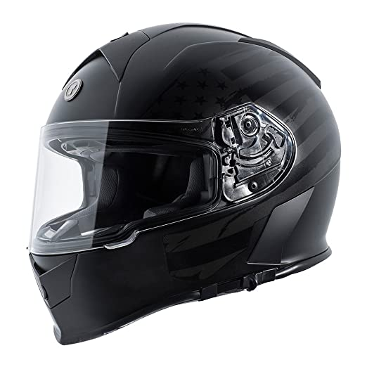 Amazon.com: TORC T14 Mako Flag Full Face Helmet (Flat Black, Small): Automotive