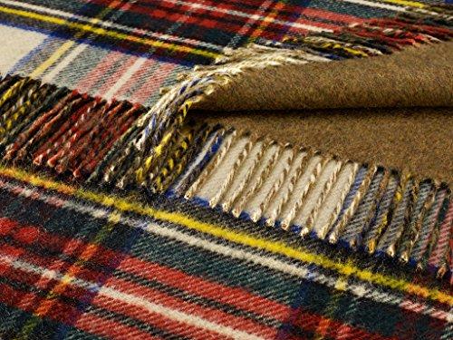 Bronte Throw Blanket - Double Cloth - Merino Lambswool (WW1 Commemorative - George V/Khaki)