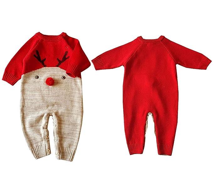Dizoony Regalo Navidad Bebé Ropa Mameluco Infantil Recién ...