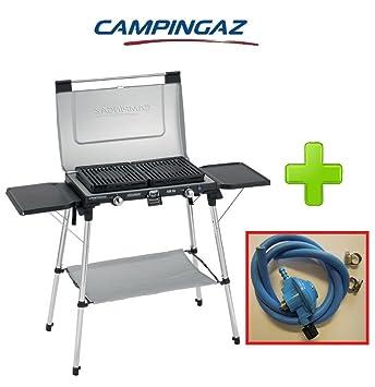Hornillo portátil de acampada 2 Fuegos Modelo 600SG Campingaz plegable a maletín con rejillas extraíbles y