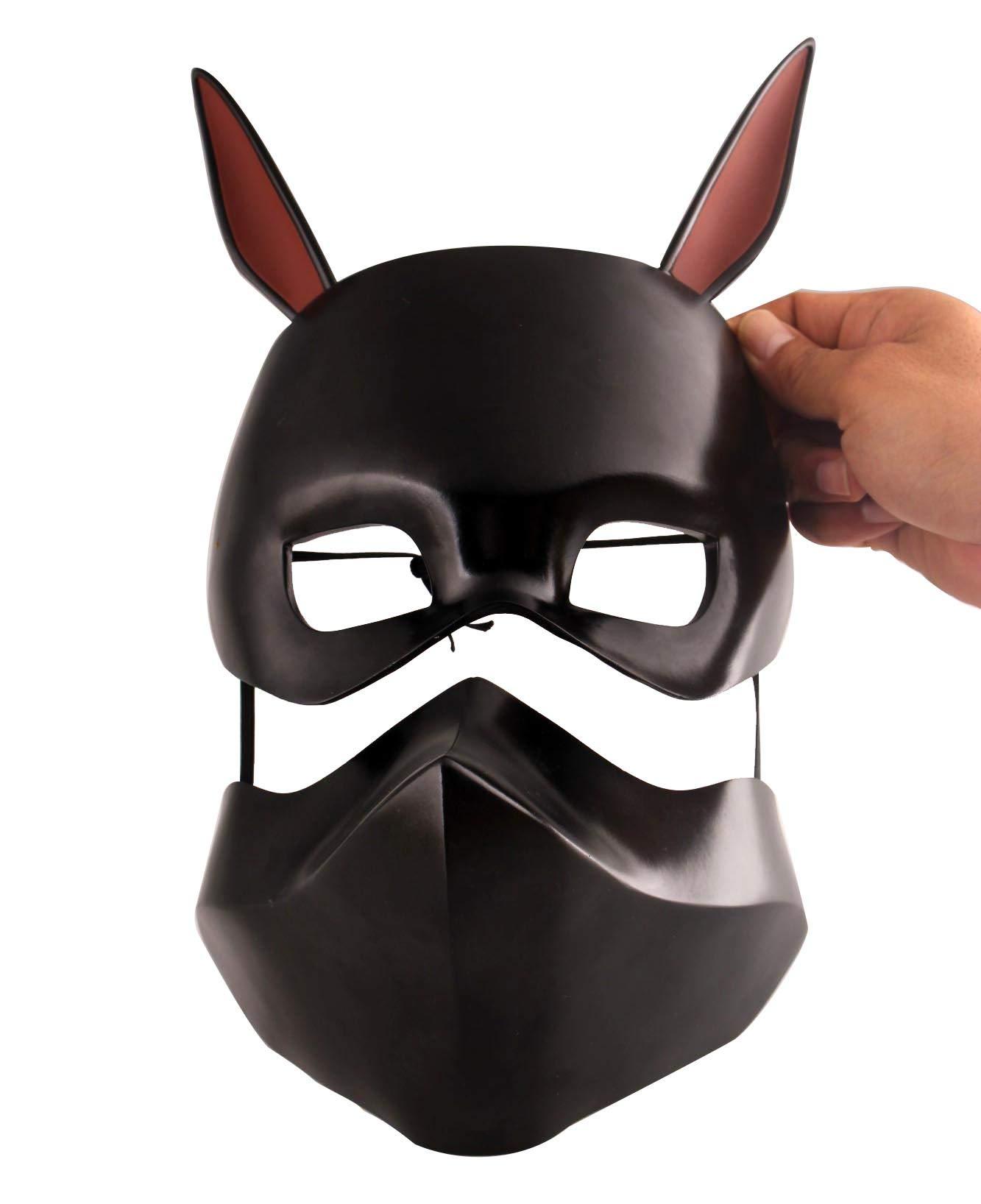 Gmasking Tokyo Ghoul Kirishima Ayato Black Cosplay Mask 1:1 Replica Props