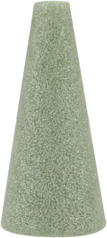 "FloraCraft Styrofoam Cones 6""X3"" Bulk-Green 48 per Package"