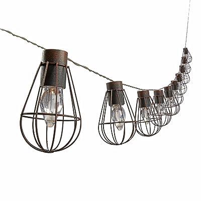 Solar String Caged Lights : Garden & Outdoor