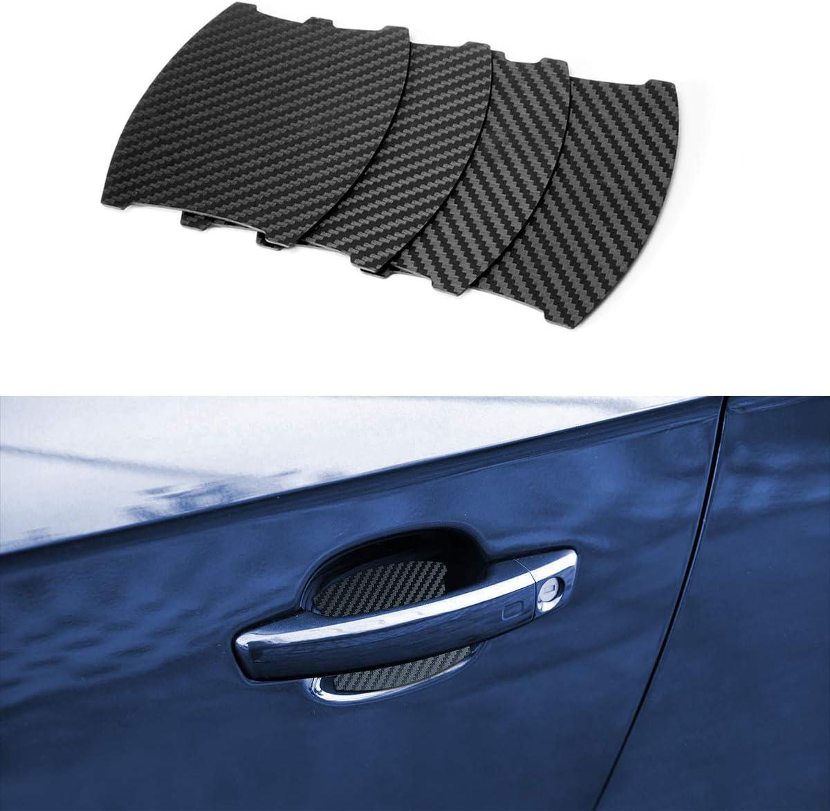 MLING 4 Pezzi Magnetico Auto Porta Maniglia Scanalatura Protettore Anti Graffio Protettive Copertina Compatibile per TT