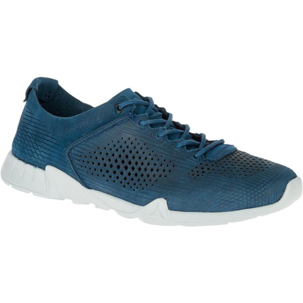 Merrell Versent Leather, Zapatillas Hombre, 41, Azul 7.5|Poseidon Blue