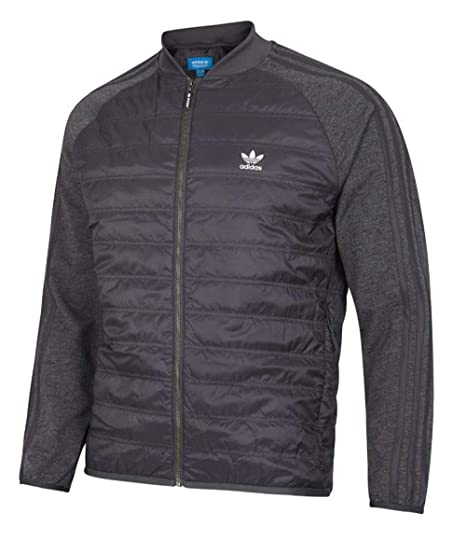 d48b768a1f9eb adidas Originals Bomber Jacket Mens Grey BP7097 Primaloft Insulation  (X-Large)  Amazon.co.uk  Clothing