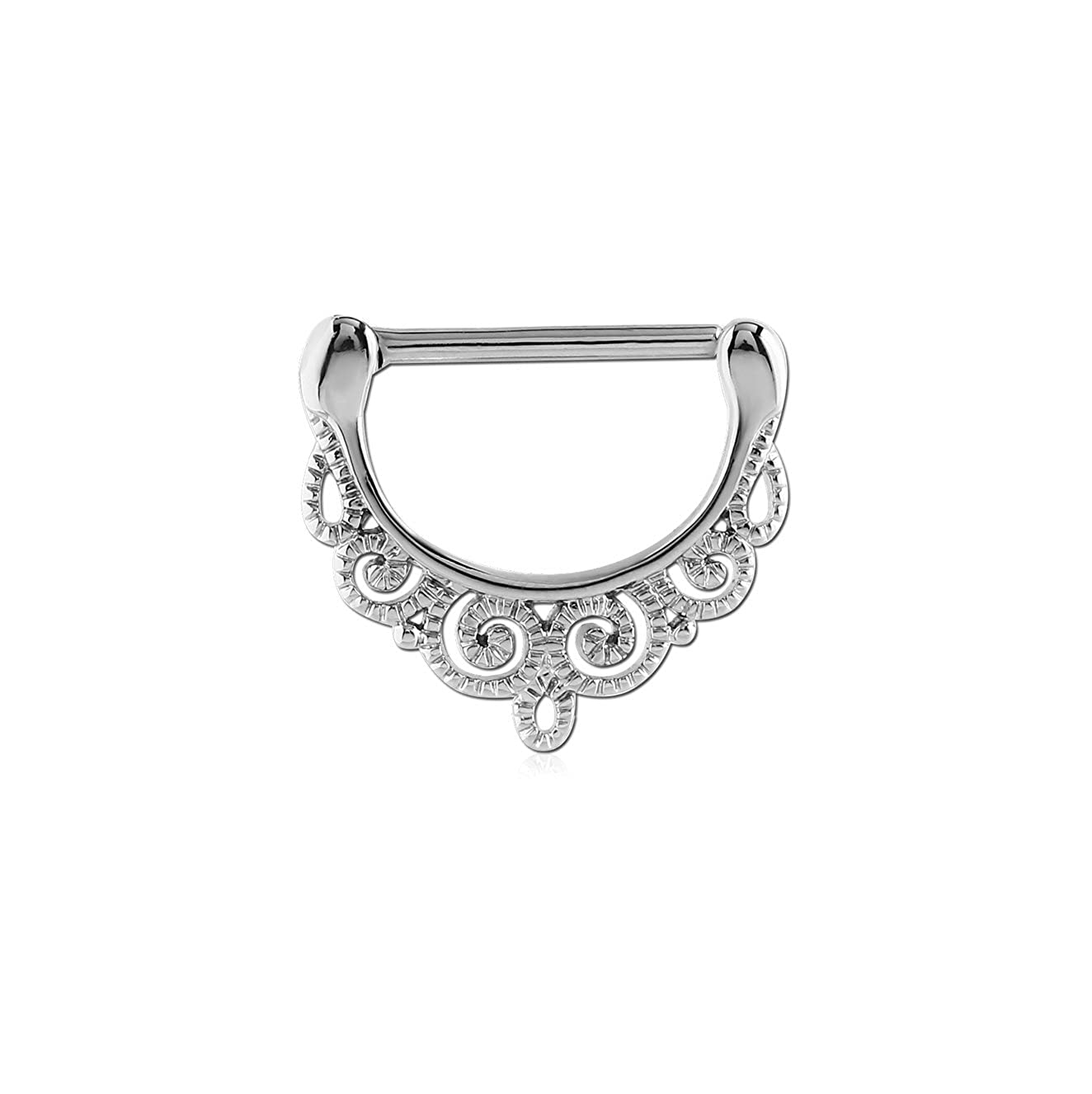 Bubble Body Piercing 1 Piece, not a Pair Surgical Steel Nipple Clicker - Filigree Gauge: 14g