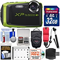 Fujifilm FinePix XP90 Shock & Waterproof Wi-Fi Digital Camera (Black/Lime Green) with 32GB Card + Case + Battery + Selfie Stick + Float Strap + Kit Basic Facts Review Image
