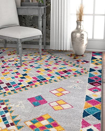 Well Woven Heritage Moroccan Medallion Boho Multi Color Diamond Lattice Area Rug 8×11 7'10″ x 10'6″ Soft Plush Modern Tribal Carpet