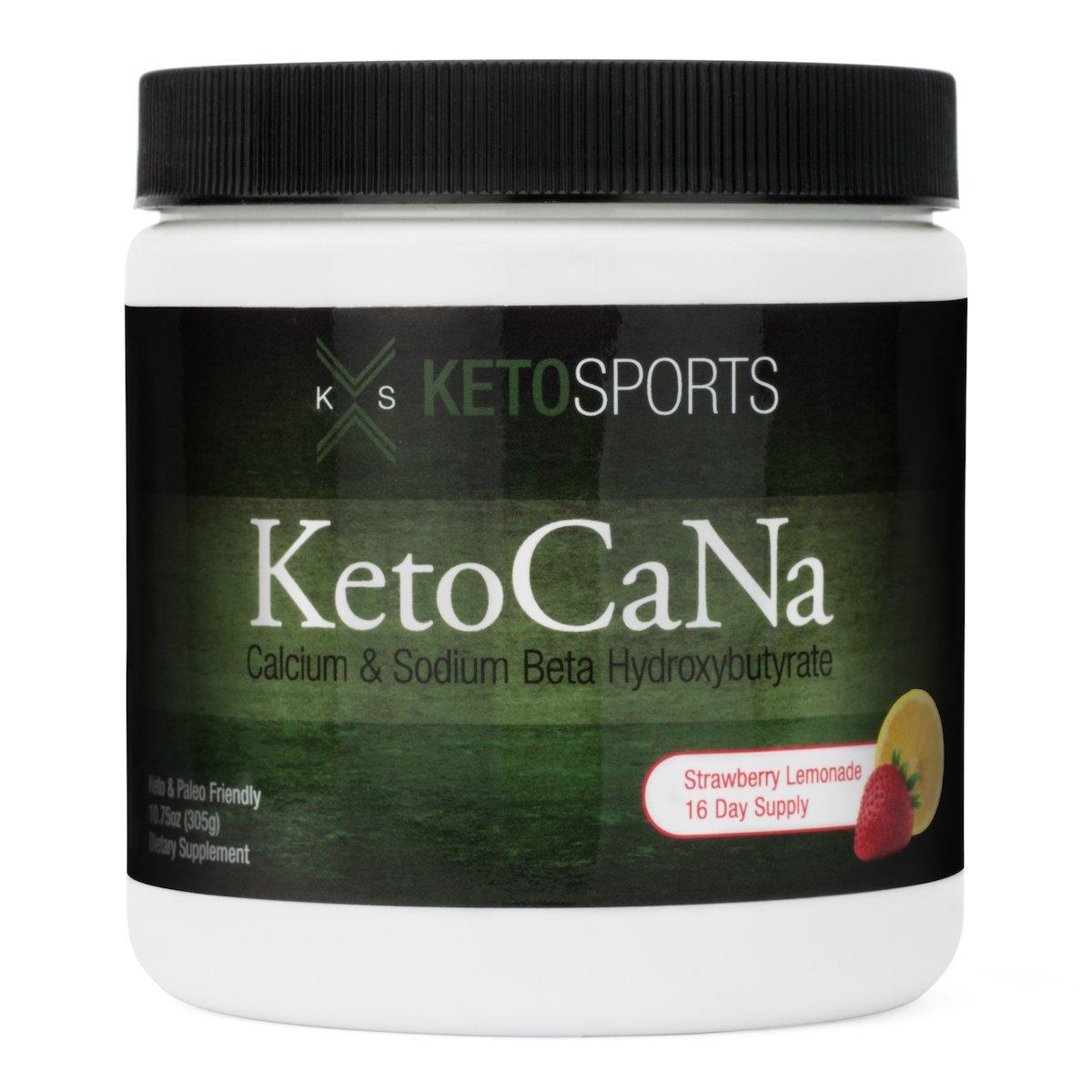 KetoSports KetoCaNa Dietary Supplement, Strawberry Lemonade, 305g by KetoSports