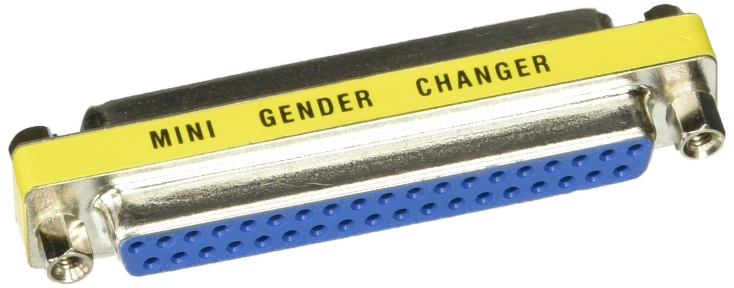 C2G/Cables to Go 02779 DB37 Female/Female Mini Gender Changer (Silver/Yellow) by C2G
