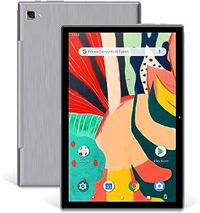 Pritom TronPad L10 Tablet 10 inch, Octa-Core, 3GB RAM, 5G WiFi, GPS, Bluetooth 5.0, HD Glass Screen, 5.0+8.0 MP Dual Camera - Android 10.0 Tablets, Silver