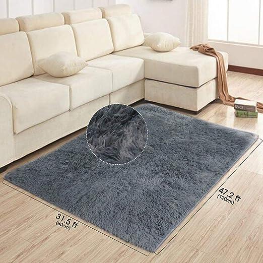 teppich fur wohnzimmer grau modern schlafzimmer shaggy kinderzimmer teppiche 120x 80cm