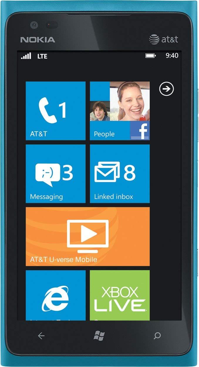 Nokia Lumia 900 16GB Windows Smartphone, GSM Unlocked - Cyan Blue (Renewed)