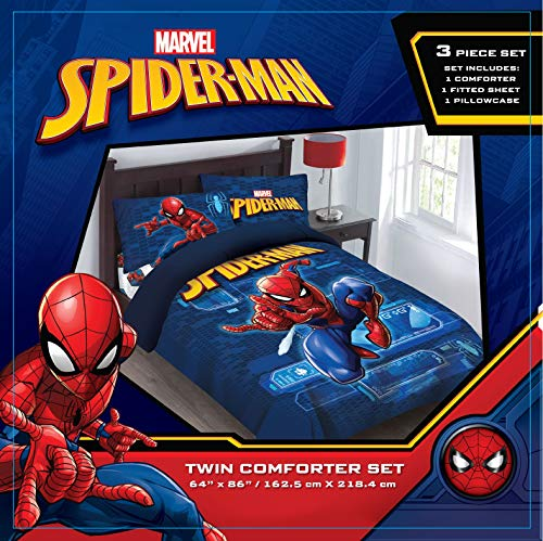 (Comforter Set - Spiderman Spider-Tech Twin)