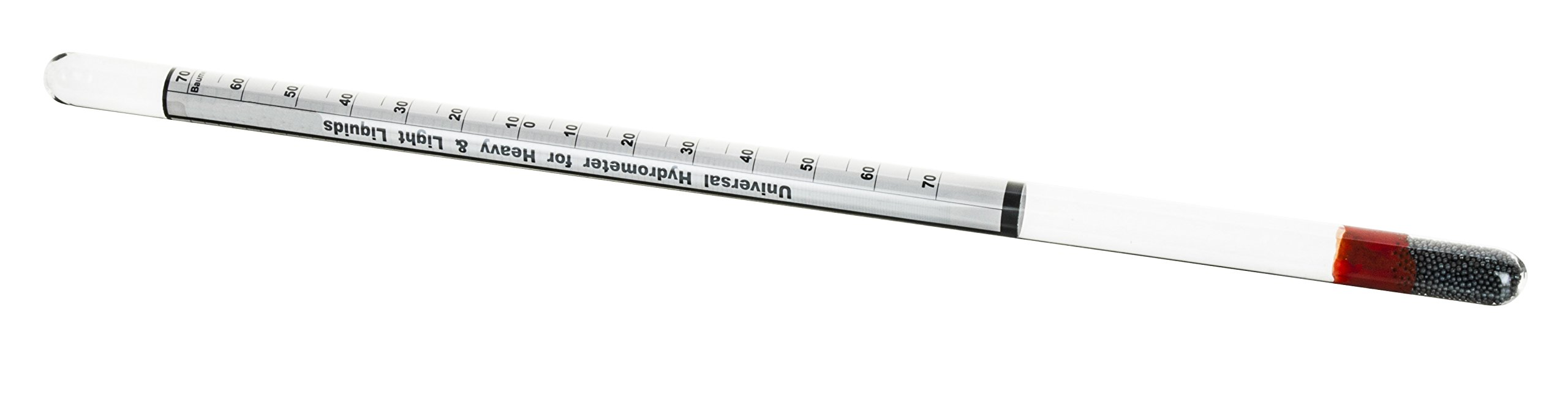 Universal Laboratory Hydrometer in Hard Plastic Case- Measure Specific Gravity Range 0.700 to 2.000 - 0.01 Graduations - Dual Scale For Light and Heavy Liquids by EISCO