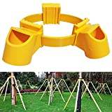 Exttlliy Adjustable PVC Fruit Tree Fixation Support Tool Tree Stakes Kit Plant Windbreak Include 1 Tie 3 Goblets (1pcs)