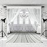 Kate 6.5x10ft Wedding Photography Backdrop White Curtain Customized Photo Studio Background Props Classic Style