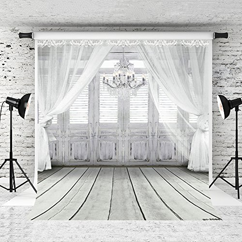 Kate 10x10ft Photography Backdrop Fundo White Chandelier Doors 3D Baby Photography Backdrop Background for Wedding LK-2086 by Kate