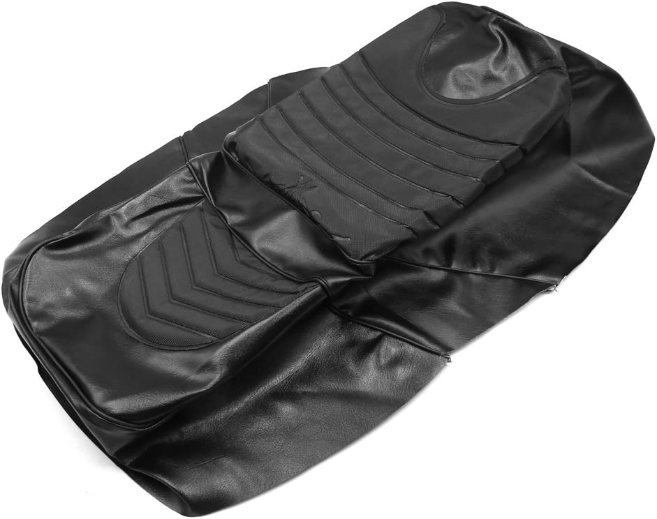 uxcell Black Faux Leather Motorcycle Seat Saddle Cover Cushion Protector for FX